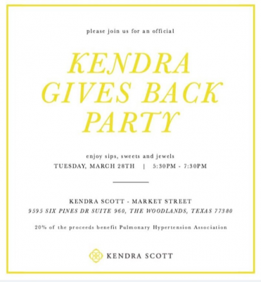 The Global Edge Gives Back- 2nd Annual Kendra Scott PHA Benefit